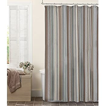 Amazon.com: Ex-Cell Home Fashions Mosaic Fabric Shower Curtain ...
