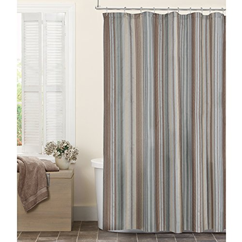 Maytex Jodie Fabric Shower Curtain (Curtain Chenille Fabric)
