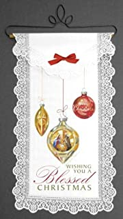 """product image for Wishing You a Blessed Christmas Wall Hanging 12 x 19"""" by Sandy Lynn Clough"""