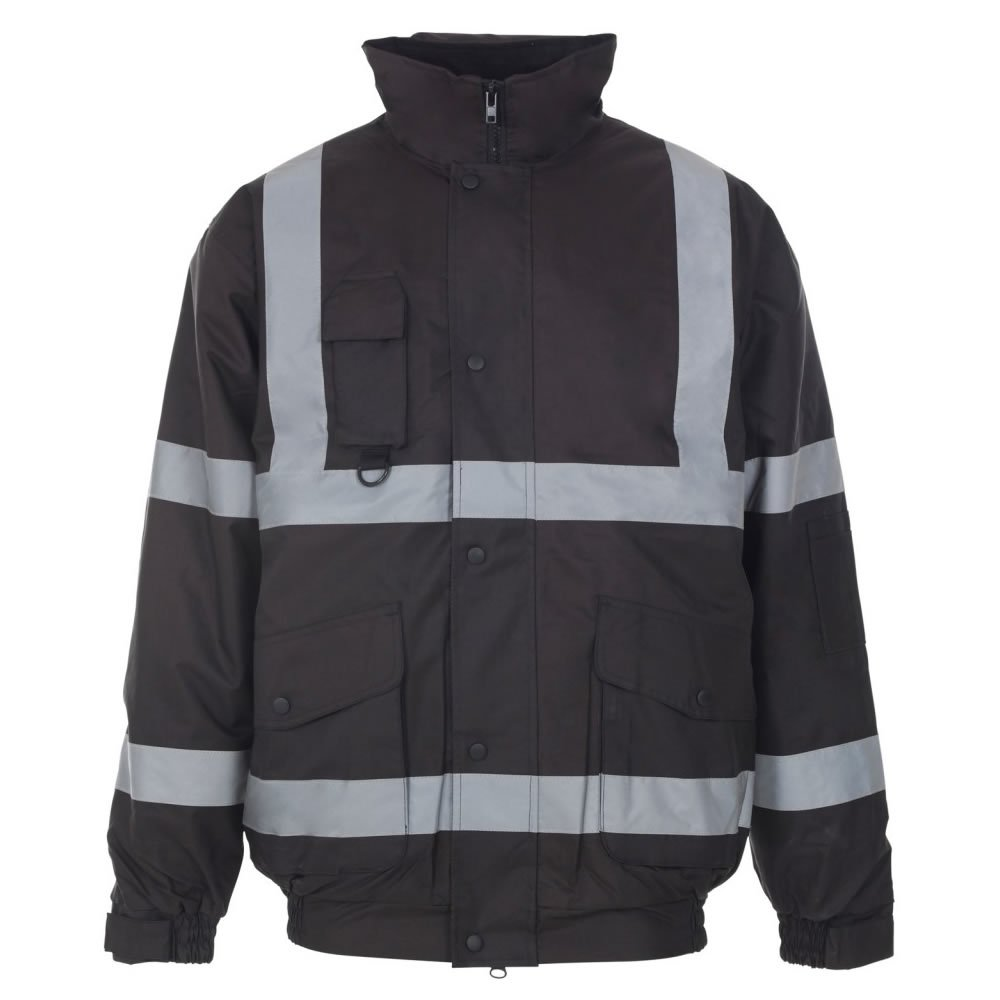 Army And Workwear Mens Hi Viz Vis Security Work Contractors Jacket Waterproof Padded Hooded Safety Coat