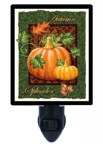 (Fall and Autumn Night Light, Autumn Splendor, Pumpkin)
