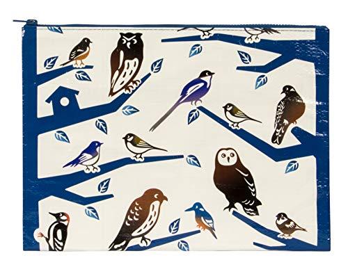 Blue Q Bags, Jumbo Zipper Pouch, Birdland