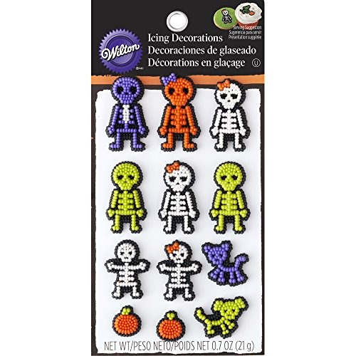 Wilton Skeleton Edible Cupcake (Green Halloween Cupcakes)