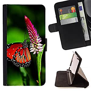 DEVIL CASE - FOR Samsung Galaxy S3 III I9300 - Butterfly Spring Flying Wings Green Nature - Style PU Leather Case Wallet Flip Stand Flap Closure Cover