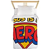 Twin Duvet Cover Jesus Is My Hero