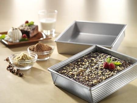 Loaf Square USA Pan Bakeware Aluminzed Steel 5-Piece Set Half Round Cake Pan Cookie Sheet