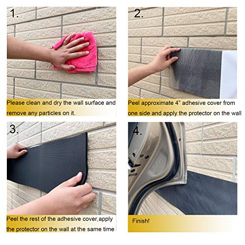 Garage Wall Protector Car Door Protector Bump Body Guards Self Adhesive Foam Parking Ultra Thick Sticky 1/4-Inch Thickness (Pack of Two) by Garage Wall Protector (Image #5)