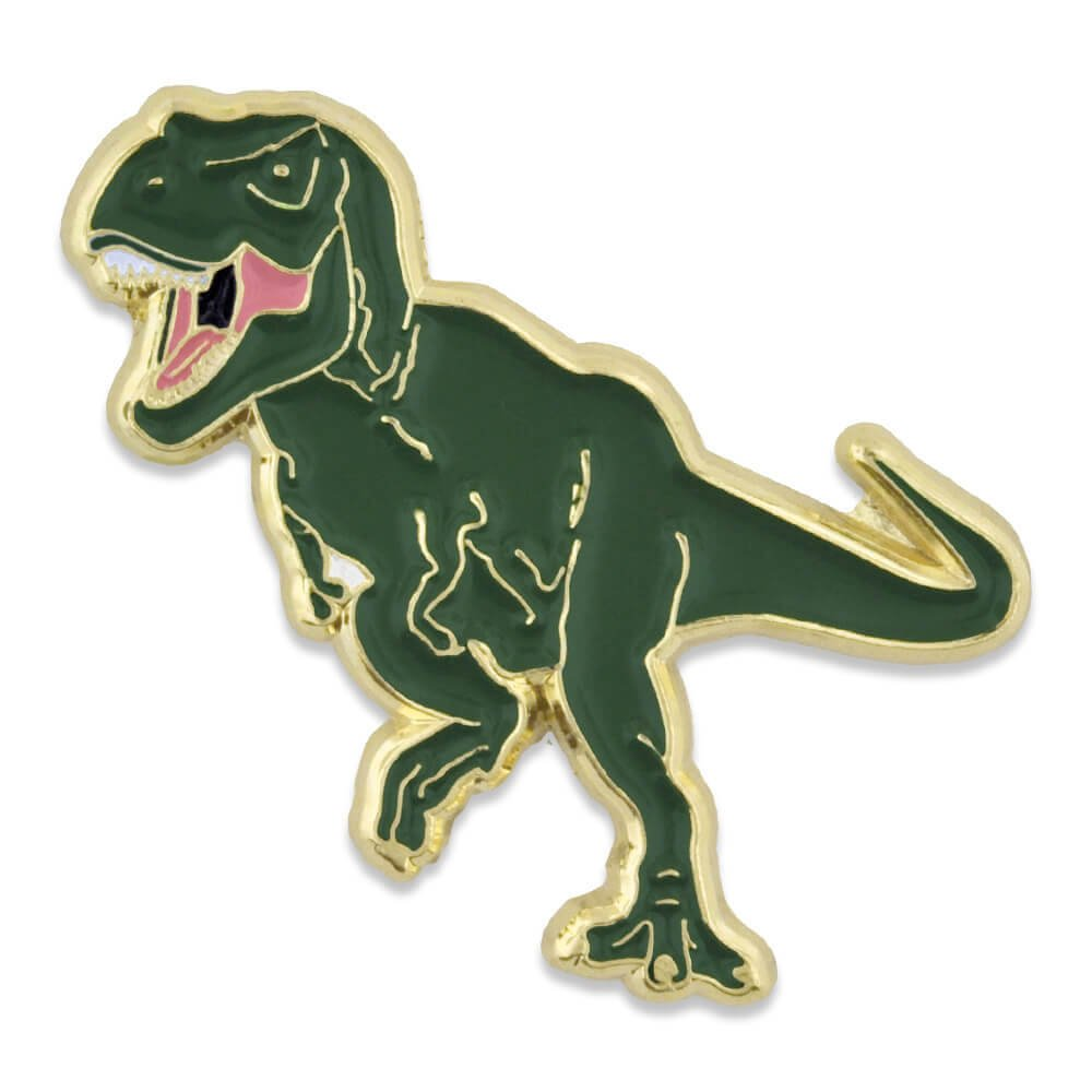 PinMart Green T-Rex Tyrannosaurus Rex Dinosaur Enamel Lapel Pin