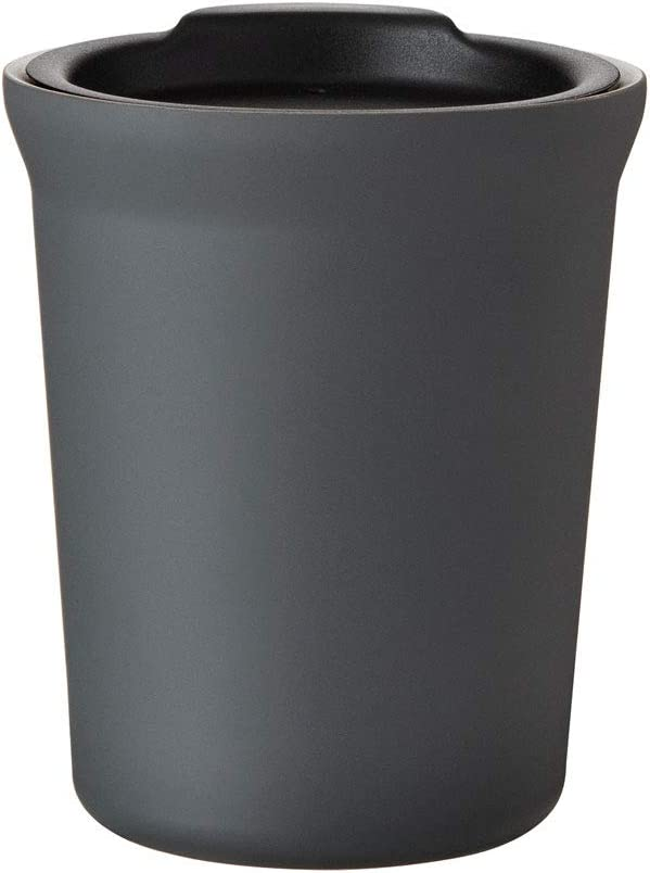 Hot or Cold - 8 oz. Double Wall Stainless Steel Copper Vacuum Insulated Car Cupholder Fit Tumbler with Lid - Matte Gray