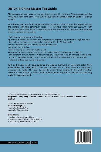 China Master Tax Guide 2012/13