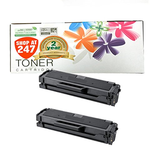 Shop At 247 Compatible Toner Cartridge Replacement for Samsung MLT-D101S/XAA ML-2165W, SCX-3405FW, SF-760P (Black, 2-Pack)