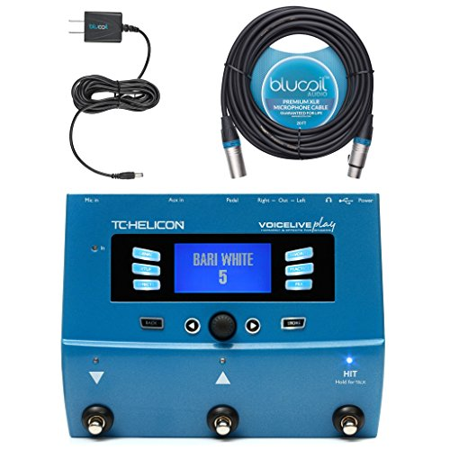 TC Helicon Voice Live Play Vocal Effects Processor Bundle with Blucoil P9V AC Adapter and 20-FT Balanced XLR Cable ()