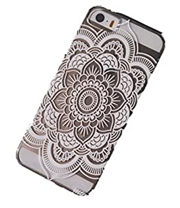 """iPhone 5C Case, Wendy's Storesâ""""¢ Clear Plastic Case Cover for Apple Iphone 5C (Henna Full Mandala Floral Dream Catcher)"""