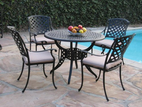 Cheap Kawaii Collection Cast Aluminum Outdoor Patio Furniture 5 Piece Dining Set MLV110T CBM1290