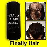 Hair Building Fibers Dark Brown Hair Loss Concealer Fiber 28 Gram .99oz Refillable Bottle By Finally Hair (Use Our Dark Chocolate Brown For Darker)