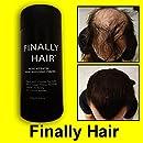 Hair Building Fibers Black Hair Loss Concealer Fiber 28 Gram .99oz Refillable Bottle by Finally Hair (Black)