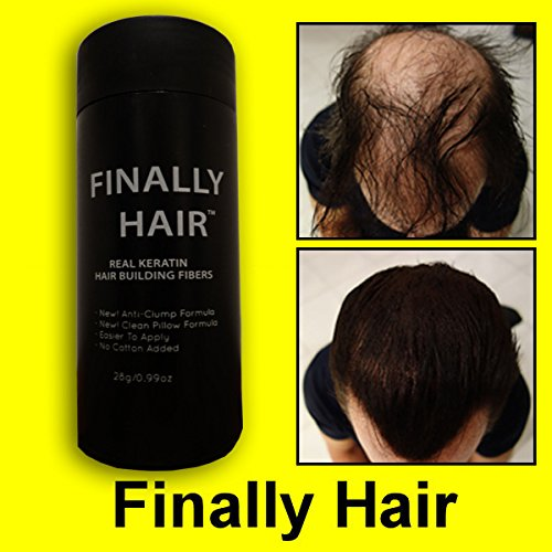 (Finally Hair Keratin Hair Building Fibers for Hair Thickening Fiber Hair Loss Concealer. (Light Grey & Pepper))