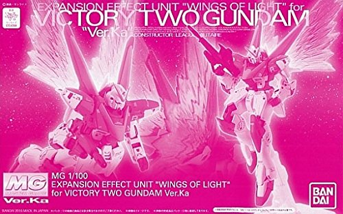 "Price comparison product image Bandai Hobby :MG 1 / 100 Expansion Effect Unit ""WING OF LIGHT"" for MG V2 Gundam Ver.Ka [Premium Bandai limited sale.]"