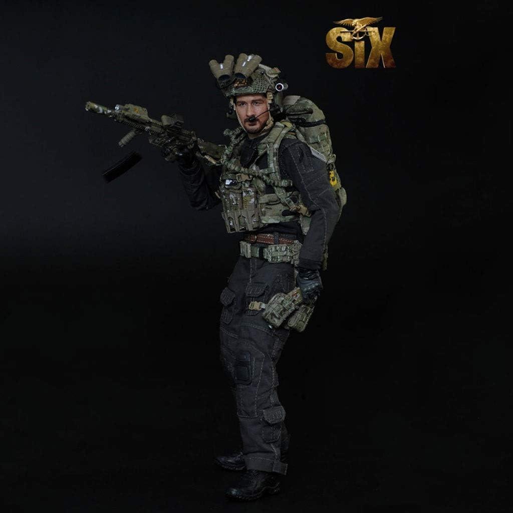 LRWTY 1/6 Ejército Escala Figura de acción Militar, Equipo de 12 Pulgadas El Sello Seis M008 Flexibles Masculino Soldado Modelo de Recogida de Juguetes Militares Juego Set de Regalo for Hombre Gifts:
