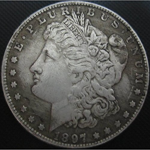 (BeiQian Best Morgan Silver Dollars-(1804-1926) Coin Collecting-Silver Dollar USA Old Original Pre Morgan Dollar goodService 1897 )