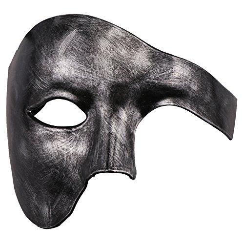 Phantom of The Opera Mask Venetian Masquerade Mask Vintage Half Face Masquerade Mask Antique Silver -