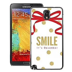 A-type Arte & diseño plástico duro Fundas Cover Cubre Hard Case Cover para Samsung Note 3 N9000 (December Christmas Gold White)