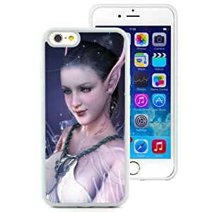 Beautiful And Unique Designed With Girl Elf Ears Water Dark Blue (2) For iPhone 6 4.7 Inch TPU Phone Case