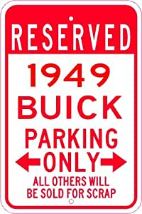 1949 49 BUICK SUPER Parking Sign - 10 x 14 Inches