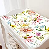 Carousel Designs Watercolor Springtime Changing Pad Cover - Organic 100% Cotton Change Pad Cover - Made in The USA