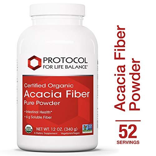 Plant Fiber (Protocol For Life Balance - Acacia Fiber Powder - Supports Intestinal Health - 12 Oz)