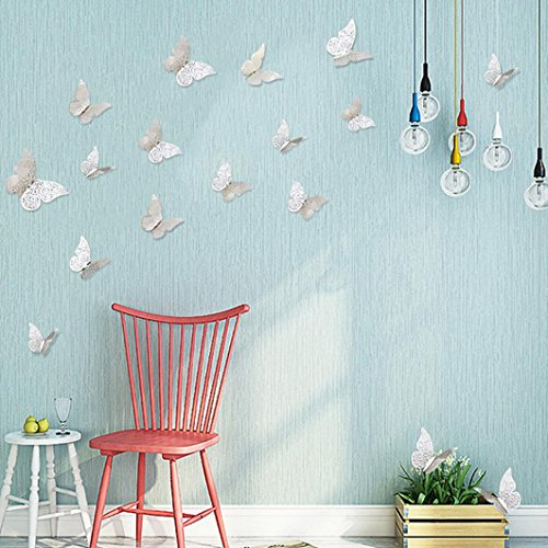 LtrottedJ 12 Pcs 3D Hollow Wall Stickers ,Butterfly Fridge for Home Decoration New (D) for $<!--$2.99-->