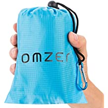 "OMZER Compact Pocket Blanket(71"" x 55"") Waterproof Outdoor Beach Blankets, Lightweight Portable And Sandproof Mat For Beach Picnic Camping Hiking Travel Festival Bingo Games"
