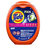 Health & Personal Care : Tide Pods Liquid Detergent Pacs, Fresh Coral Blast, 81 Count