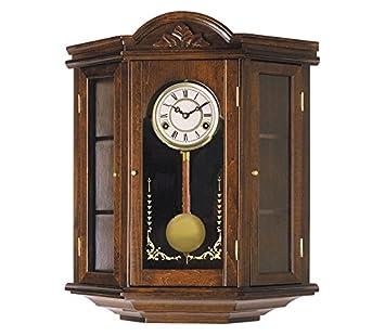 Reloj de pared de péndulo 55cm, reloj con carrillón, maquinaria cuarzo espectacular, con mueble, sonería carrillón: Amazon.es: Hogar