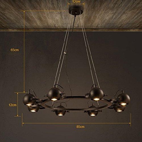 ZI LIN SHOP- Retro Iron Chandelier Loft Cafe Restaurant Creative Bar Personality Industrial Wind Led Bar Study Chandeliers rug ( Size : 8 heads )