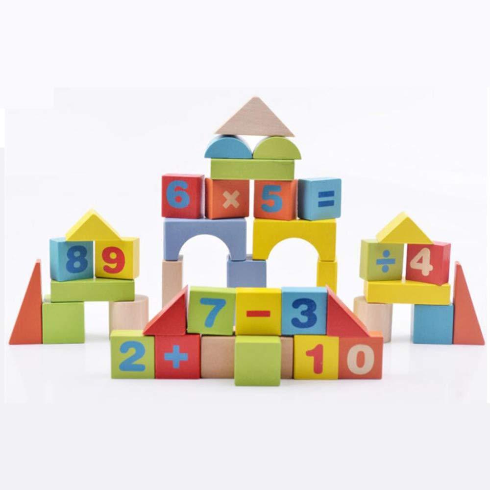 QXMEI Kinder Bausteine Spielzeug Aus Holz Lernspielzeug Größe: 8,7 Zoll  7,1 Zoll  2,4 Zoll,Digital