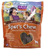 Halo - Purely for Pets Spot's Chew Natural Edible Dental Treat for Small Medium Dogs - Yummy Pumpkin - 20.4-Ounce