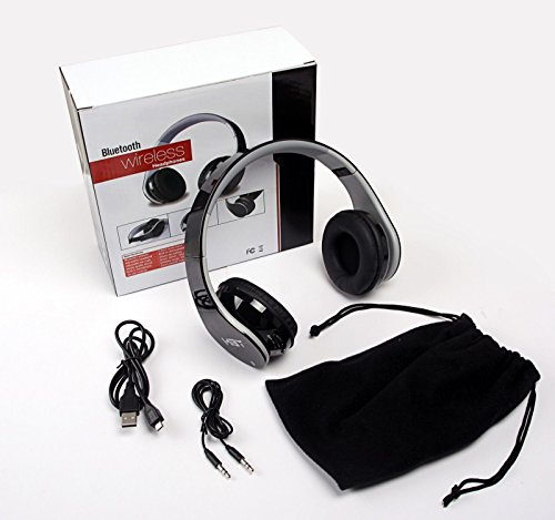 New Black Bluetooth Headphone with NFC function, work for Samsung Android smart cell phone; Apple Phone and almost all Tablet PC