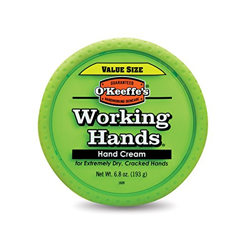 O'Keeffe's Working Hands Hand Cream Value Size, 6.8 ounce Jar (Best Moisturizer For Dry Cracked Hands)