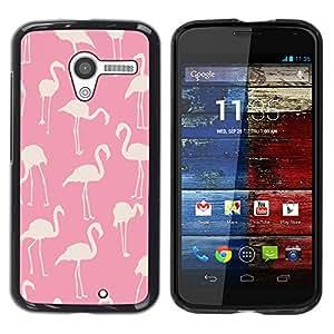 Cubierta protectora del caso de Shell Plástico || Motorola Moto X 1 1st GEN I XT1058 XT1053 XT1052 XT1056 XT1060 XT1055 || Pattern White Bird Florida @XPTECH