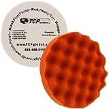 ": 8"" Red Waffle Foam Buffing Pad Extra Coarse Cutting Buffing Hook & Loop Grip Polish Car"