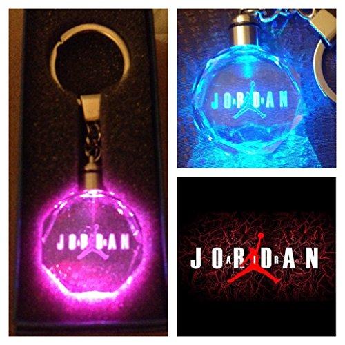 Air Jordan Crystal Led KeyChain 7 Colors Changing (Jordan Miniatures)