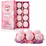 8 Bath Bombs Gift Set for Women Mothers Day Gifts Best Birthday Valentine Gift Ideas Natural Essential Oil Lush Fizzies by Aroma Bee (4.8 oz, Rose)