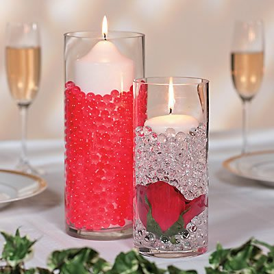 (Cosmo Beads Brand RED Premium Water Beads Party Table Centerpiece Idea (16)