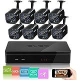 ELEC 8CH HDMI 960H DVR 1500TVL Outdoor Indoor Day Night IR-CUT CCTV Surveillance Home Video Security Camera System...