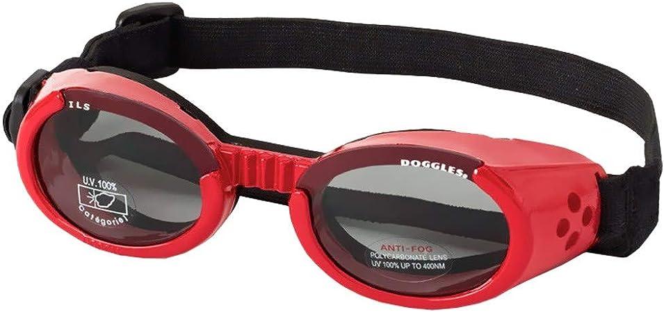 Doggles ILS2 Dog Sunglasses Shiny Red Frame//Smoke Lens SZ XS NEW!