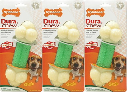 Nylabone Dura Chew Double Action Chew, Wolf 3 pk