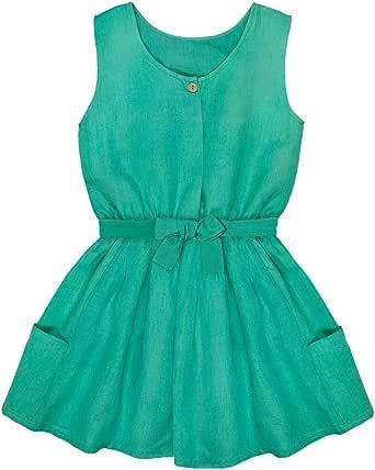 Bonnet a Pompon Pleated Dress for Girls, Size 8434135101899