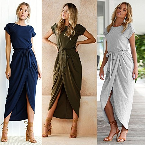 moahhally JOY DRAGON Brand Discount New Women's Clothing Women Sexy Summer Fashion Bandage Solid Color Long Party Dress Maxi Straps Are Irregularly Split Dress
