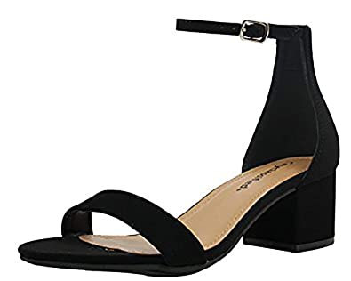 ca6e63041 City Classified Womens Block Heel Dress Sandal Open Toe Ankle Strap Heeled  Sandals